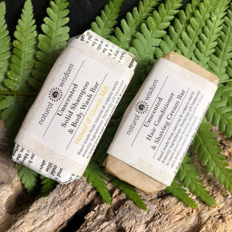 Natural Wisdom Spa Hair Affinity Bars Unscented Oatmeal & Coconut Milk Shampoo & Body Wash Bar - The Beauty Garden Boutique