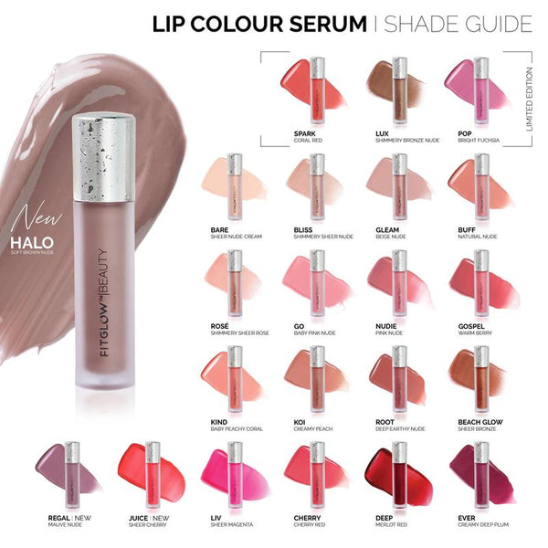 Fitglow Beauty | Lip Colour Serum Swatch | The Beauty Garden Boutique