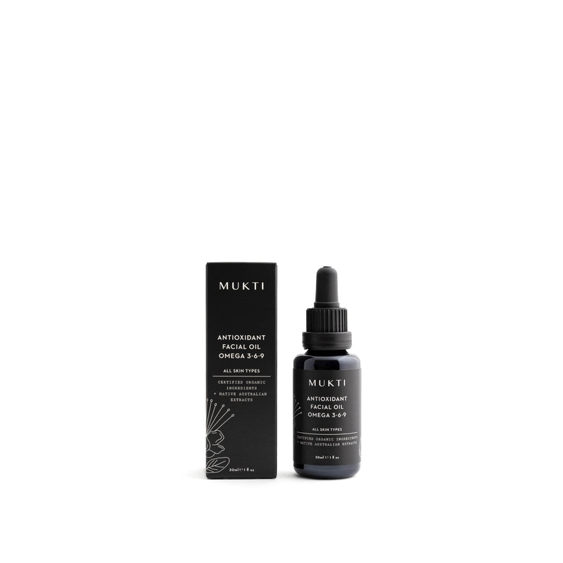 Mukti Organics Skincare Antioxidant Facial Oil Omega 3-6-9 - The Beauty Garden Boutique