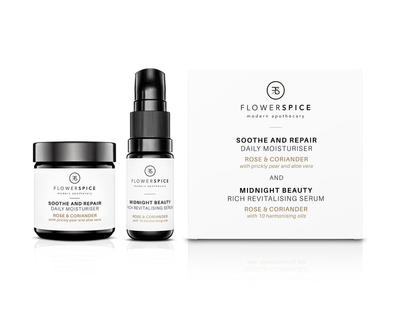 Flower and Spice Travel/Discovery Set -Rose & Coriander Mini Duo - The Beauty Garden Boutique