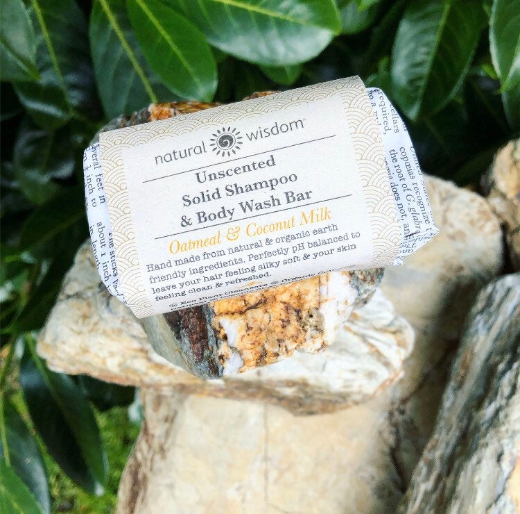 Natural Wisdom Spa Unscented Oatmeal & Coconut Milk Shampoo & Body Wash Bar - The Beauty Garden Boutique