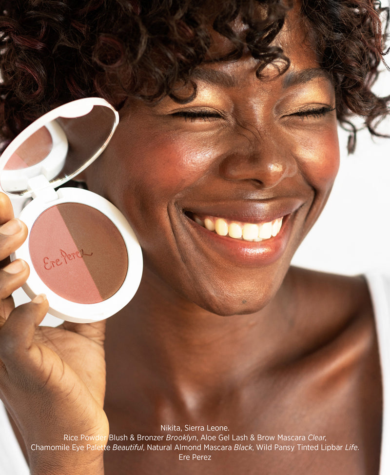 Ere Perez | rice powder blush & bronzer in brooklyn | The Beauty Garden Boutique