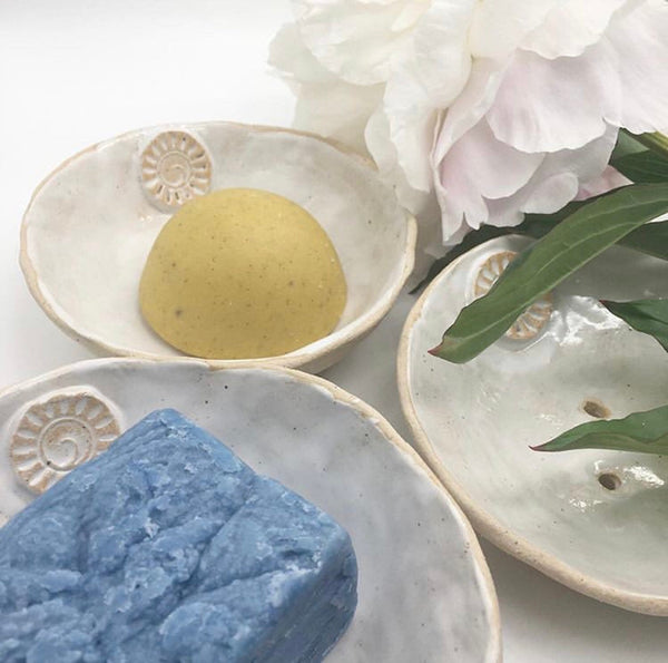 Natural Wisdom | Stoneware Soap Bowl Handmade | The Beauty Garden Boutique