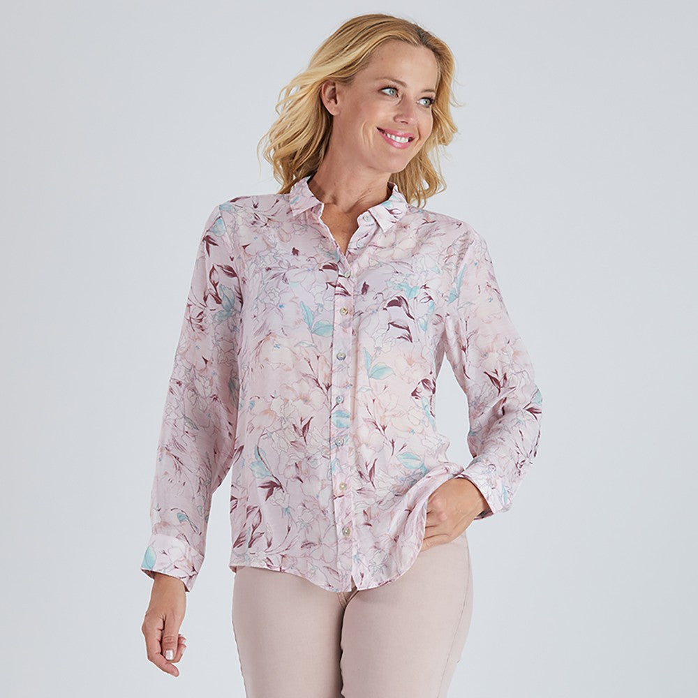 Gordon Smith Floral Print Lilac Shirt