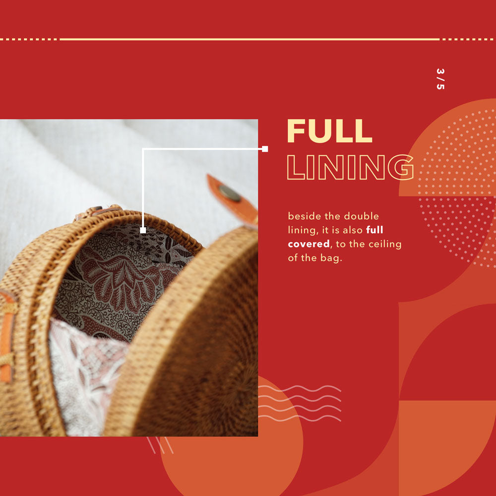 Full Lining Rattan Bag - Lokatan