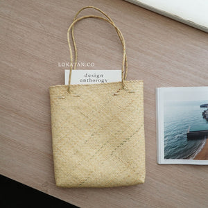 Borneo Plain Seagrass Tote Bag - Lokatan