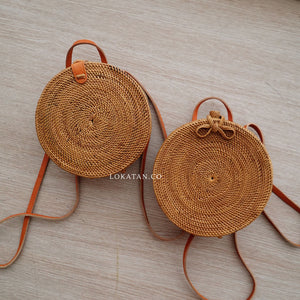 Beck Round Rattan Backpack Bali - Lokatan
