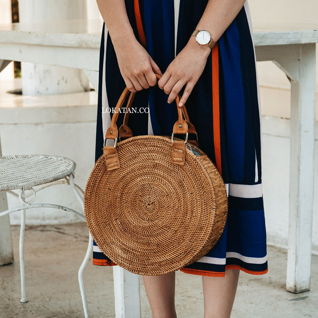 Circe Brown Bali Rattan Bag
