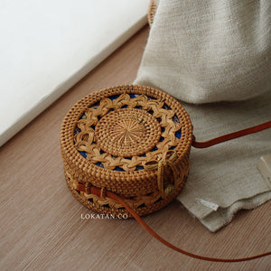 Full Braided Bali Rattan Bag - Lokatan