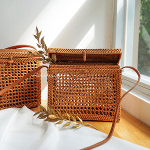 Nala Brown Bali Rattan Bag