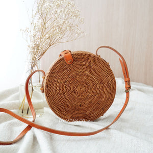 Plain Round Rattan Bag Bali Adjustable Series - Lokatan