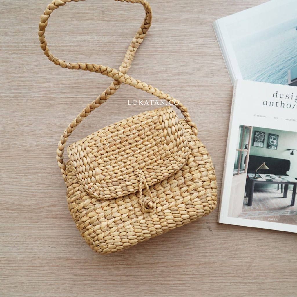 Possy Weaving Seagrass Bag - Lokatan