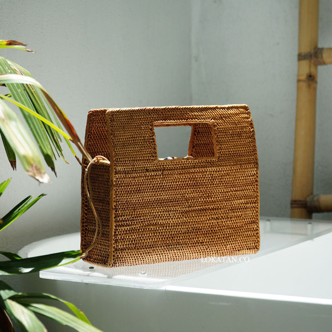 Rapu Brown Bali Rattan Bag