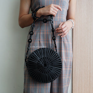Round Bamboo Bag Colorful