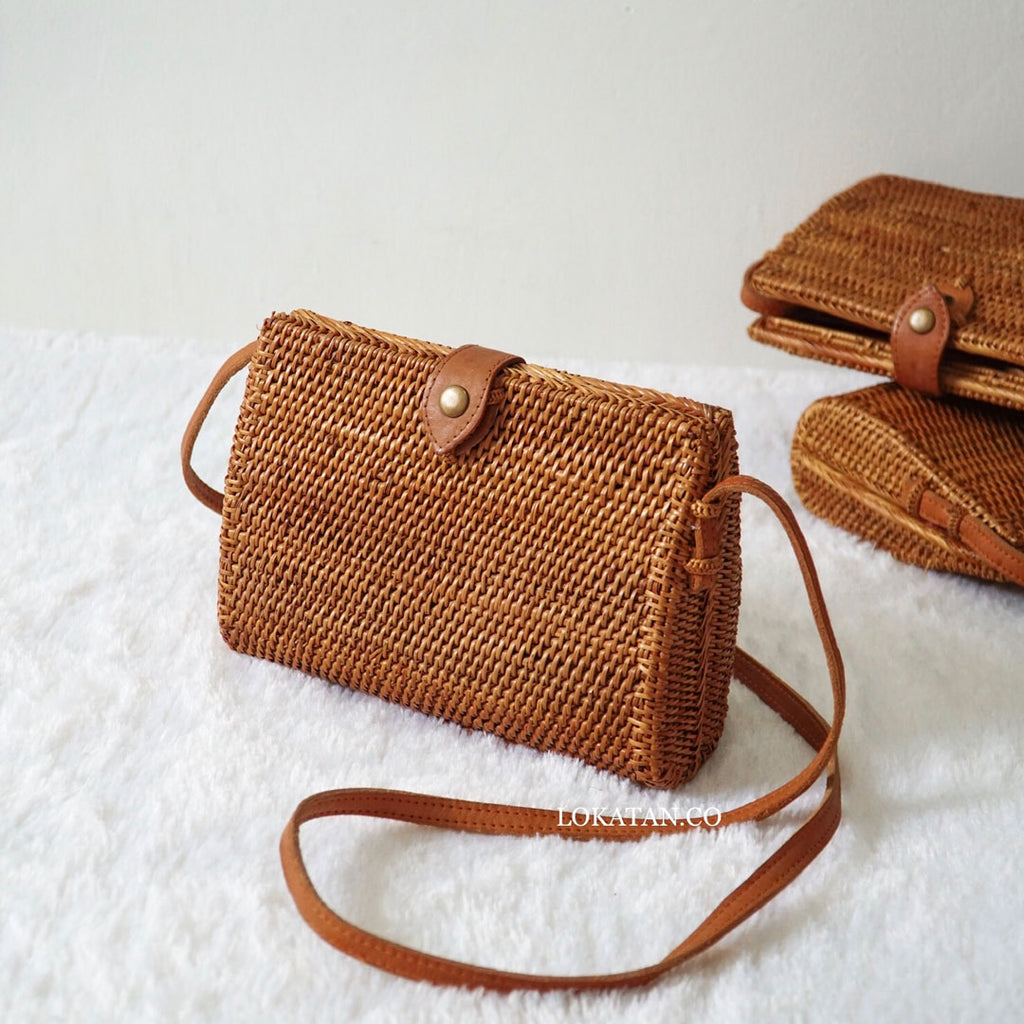 Sibuyan Brown Bali Rattan Bag