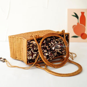 Solor Brown Bali Rattan Bag