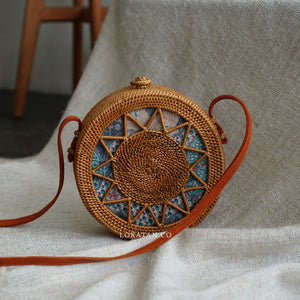 Star Brown Bali Rattan Bag