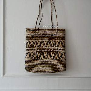 Tribal Seagrass Square Tote Bag