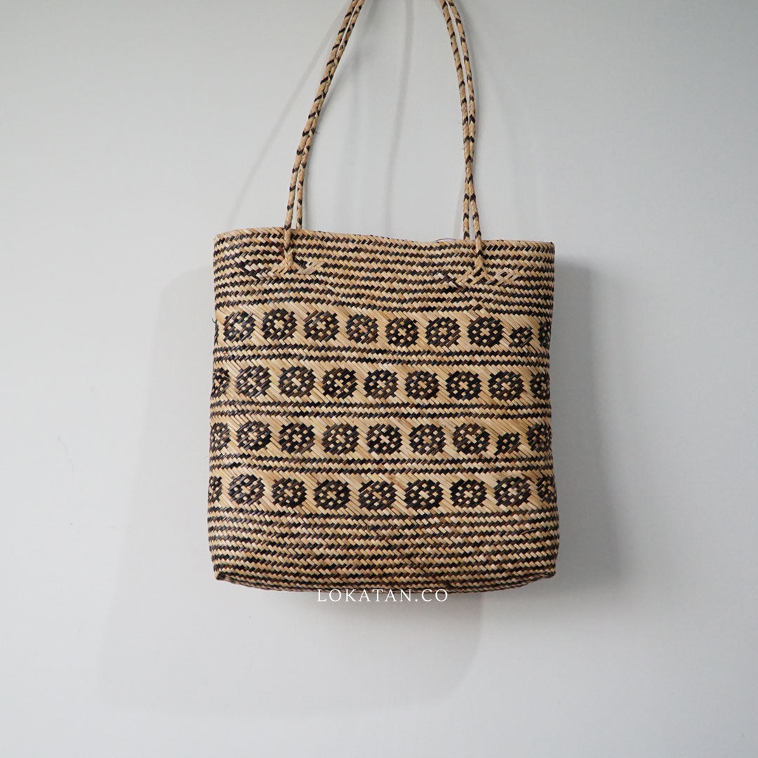 Borneo Tribal Seagrass Square Tote Bag - Lokatan