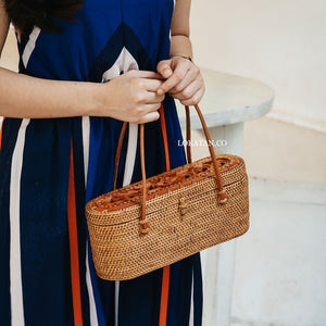 Wade Brown Bali Rattan Bag