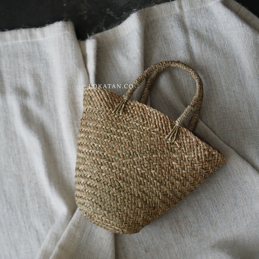 Wicker Seagrass Basket Bag