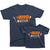 BBQ master and BBQ master in training Father Son, Daughter, Baby Matching T-shirts by TeeLikeYours.com in Navy Blue
