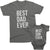Best Dad Ever and Best Son ever Matching Father Son t-shirts Asphalt color by TeeLikeYours.com
