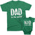 Best Dad, Mom and Kid Ever_Short Sleeve Graphic Matching T-Shirts_Family Look_Kelly Green at TeeLikeYours.com