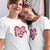 Better Together_short sleev Graphic Matching T-Shirts_gift for Valentine's Day or any Occasion and Holidays_Mother and Daughter white tees at TeeLikeYours.com