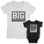 Big Trouble and Biggest Trouble_short sleeve Graphic Matching T-Shirts_White and Black color at TeeLikeYours.com