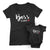 Boss Lady Boss Baby_short sleeve Graphic Matching T-Shirts for Mother and Daughter_Black Tees at TeeLikeYours.com