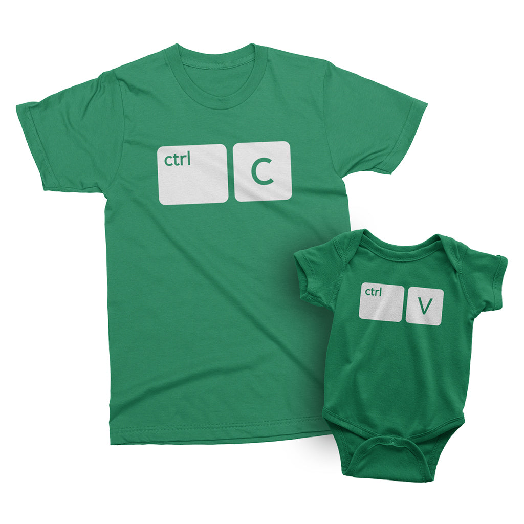 Copy and Paste Parent and Child Matching T-Shirt and Bodysuit Set
