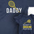 Daddy and Daddy's Little Partner_Short Sleeve Graphic Matching T-Shirts_Navy at TeeLikeYours.com