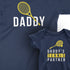 Daddy and Daddy's Tennis Partner - Father and Son Matching T-Shirts