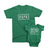 Don't make Me Call My Papa_short sleeve Graphic Matching T-Shirts for Daddy and Me_Kelly Green color at TeeLikeYours.com