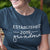 Established 2019 Grandma short sleeve Pregnancy Announcement Graphic T-Shirt_Zoomed Image with Model_Navy color at TeeLikeYours.com