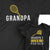 Grandpa and Grandpa's Tennis Partner_short sleeve Graphic Matching T-Shirts for Grandpa and Grandchild at TeeLikeYours.com