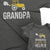 Grandpa and Grandpas Little Helper_Short Sleeve Graphic Matching T-Shirts for Grandpa and Grandchild_Farm Style with Tractor_Asphalt color at TeeLikeYours.com