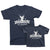 Hunt Club Life Member and Hunt Club New Member Matching Father Son Graphic T-shirts Set By TeeLikeYours.com in Navy Blue