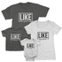 Like Father Like Son, Like Mother Like Daughter T-Shirts - Graphic Matching Family Outfit