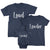 Loud, Louder and Loudest_short sleeve Graphic Matchng T-Shirts for Whole Family_Navy color at TeeLikeYours.com