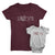 Love_short sleeve Graphic Matching T-Shirts for Mother and Daughter_Maroon and White colors at TeeLikeYours.com