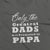 Only the Greatest Dads get Promoted to Papa_Pregnancy Announcement short sleeve Graphic T-Shirt_zoom black color at TeeLikeYours.com