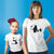 Panda Matching Mommy and Me Short Sleeve Graphic White T-shirts by TeeLikeYours.com