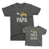 Papa and Papa's Little Helper - short sleeve Matching T-Shirts for Grandpa and Grandchild