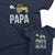 Papa and Papa's Little Helper_short sleeve Graphic Matching T-Shirts for Grandpa and Grandchild_Zoom Navy color at TeeLikeYours.com