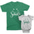 Smile - short sleeve Graphic Matching Family T-Shirts_Kelly Green-White_ at TeeLikeYours.com