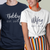 Wifey & Hubby Couple Matching Shirts. Vow renewal ceremony. Husband Wife Anniversary. Wedding Custom Gift at TeeLikeYours_com