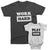 Work Hard_Play Hard - Short Sleeve Graphic Matching T-Shirts for Daddy_Mommy and Me_Black and White color at TeeLikeYours.com