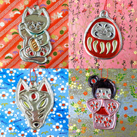 Japanese Tin Art Charms and Decorations Online Workshop Tickets